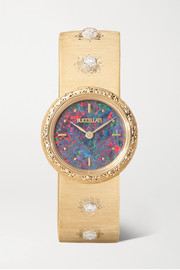 Macri 24mm 18-karat gold, opal and diamond watch