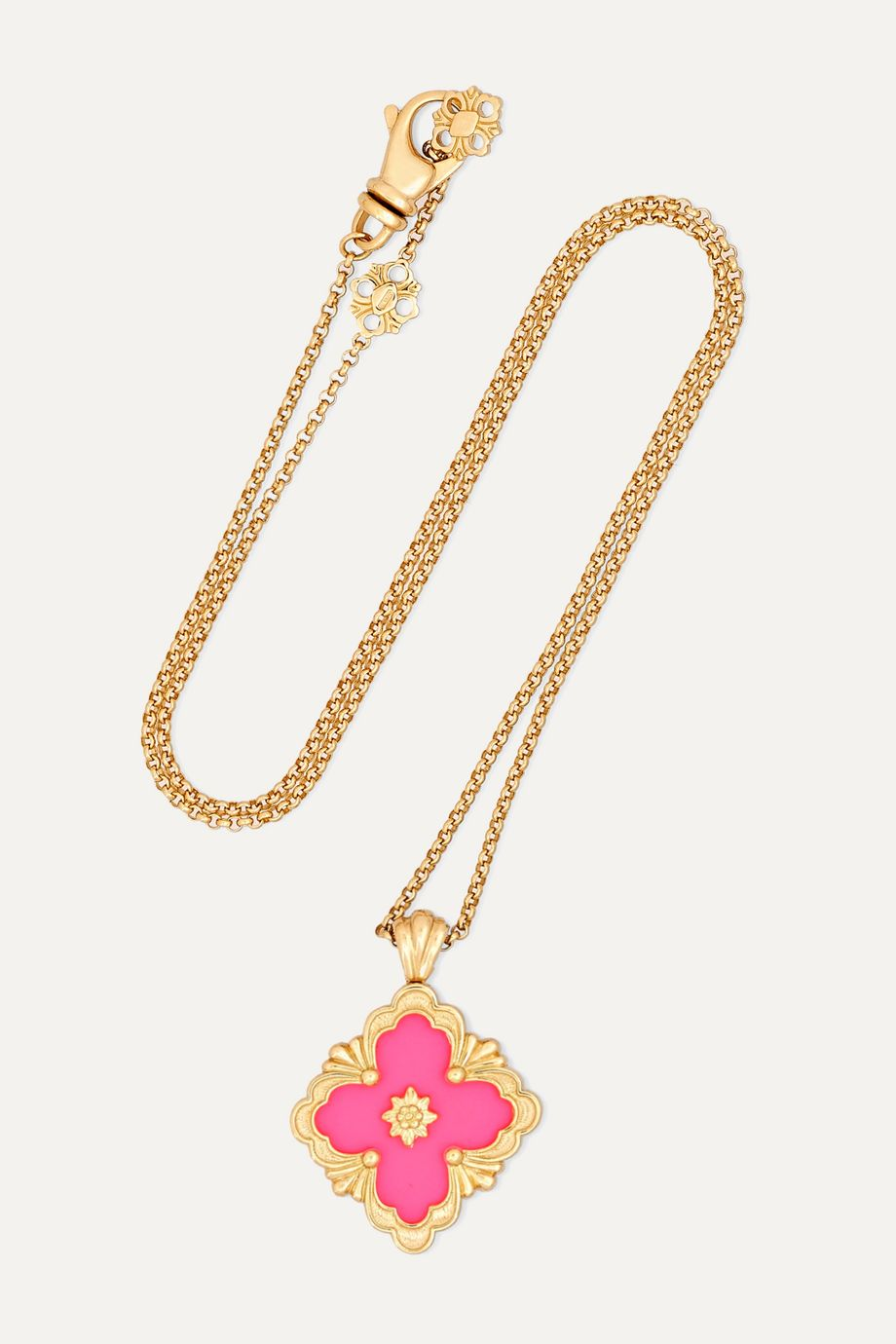 Buccellati 18-karat yellow gold and enamel necklace