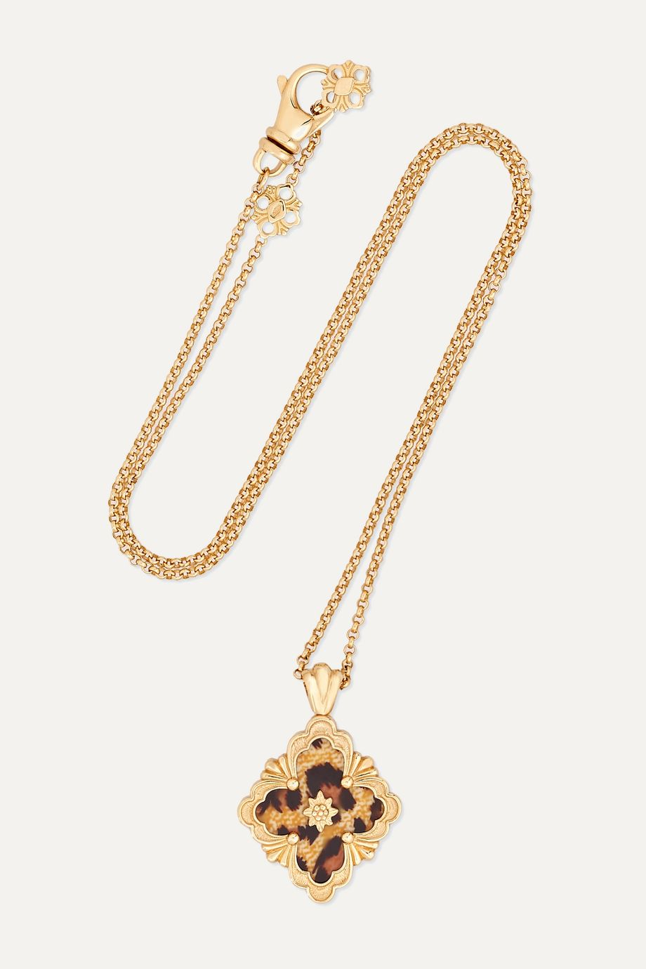 Buccellati 18-karat gold and enamel necklace