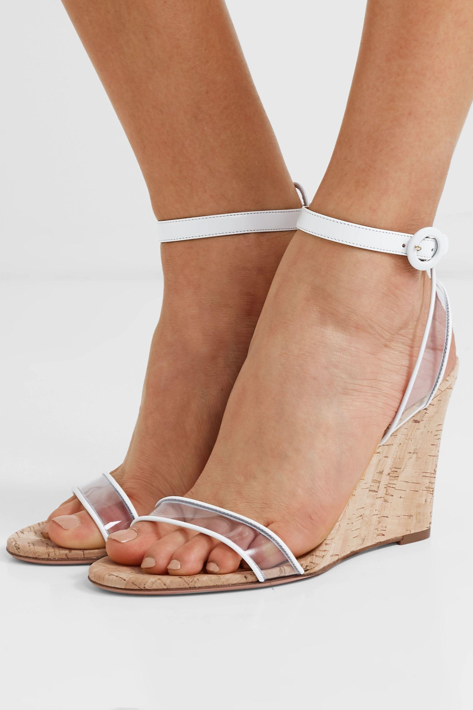 PVC wedge sandals