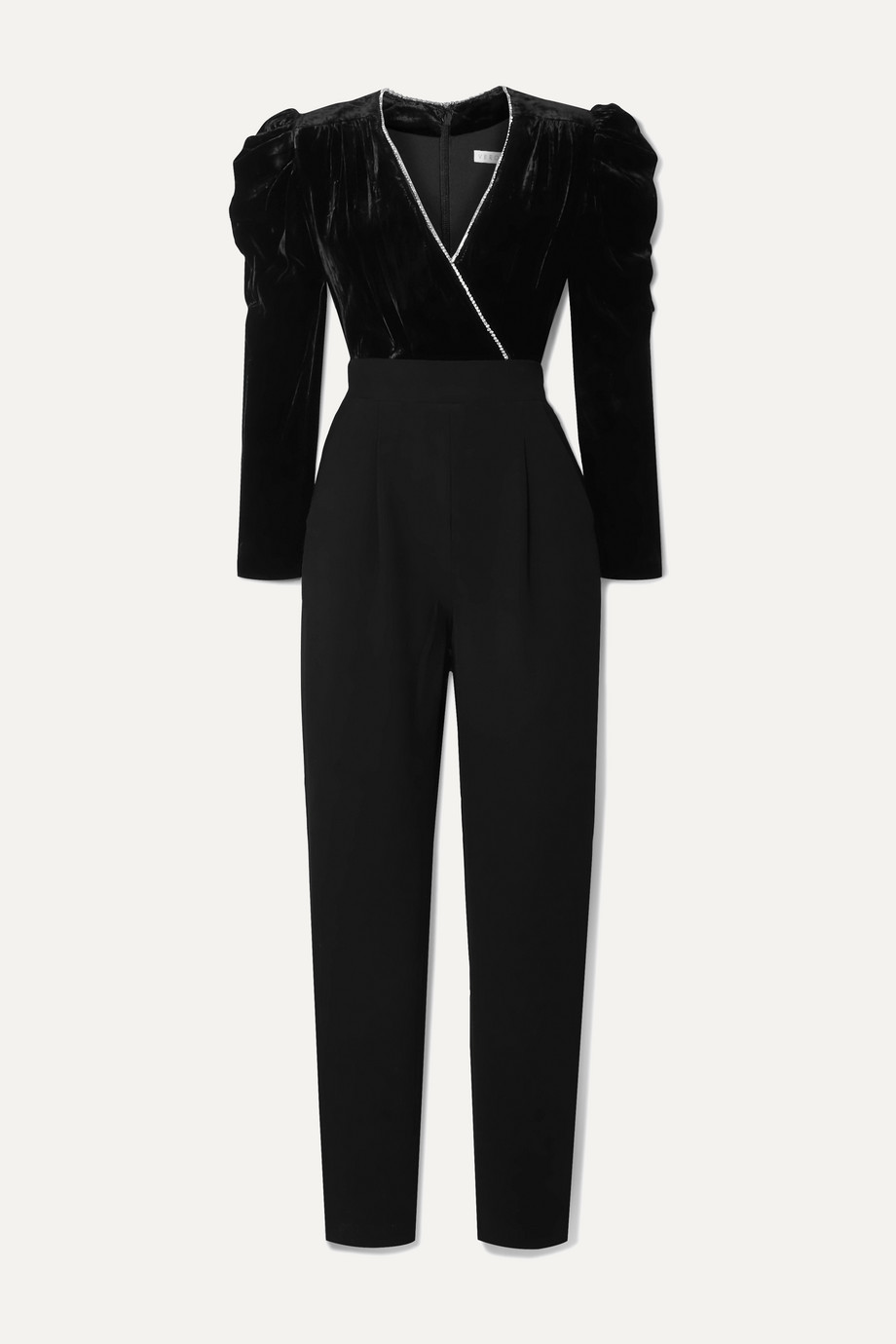 Veronica Beard Combi-pantalon en velours et en cady à cristaux Cleo