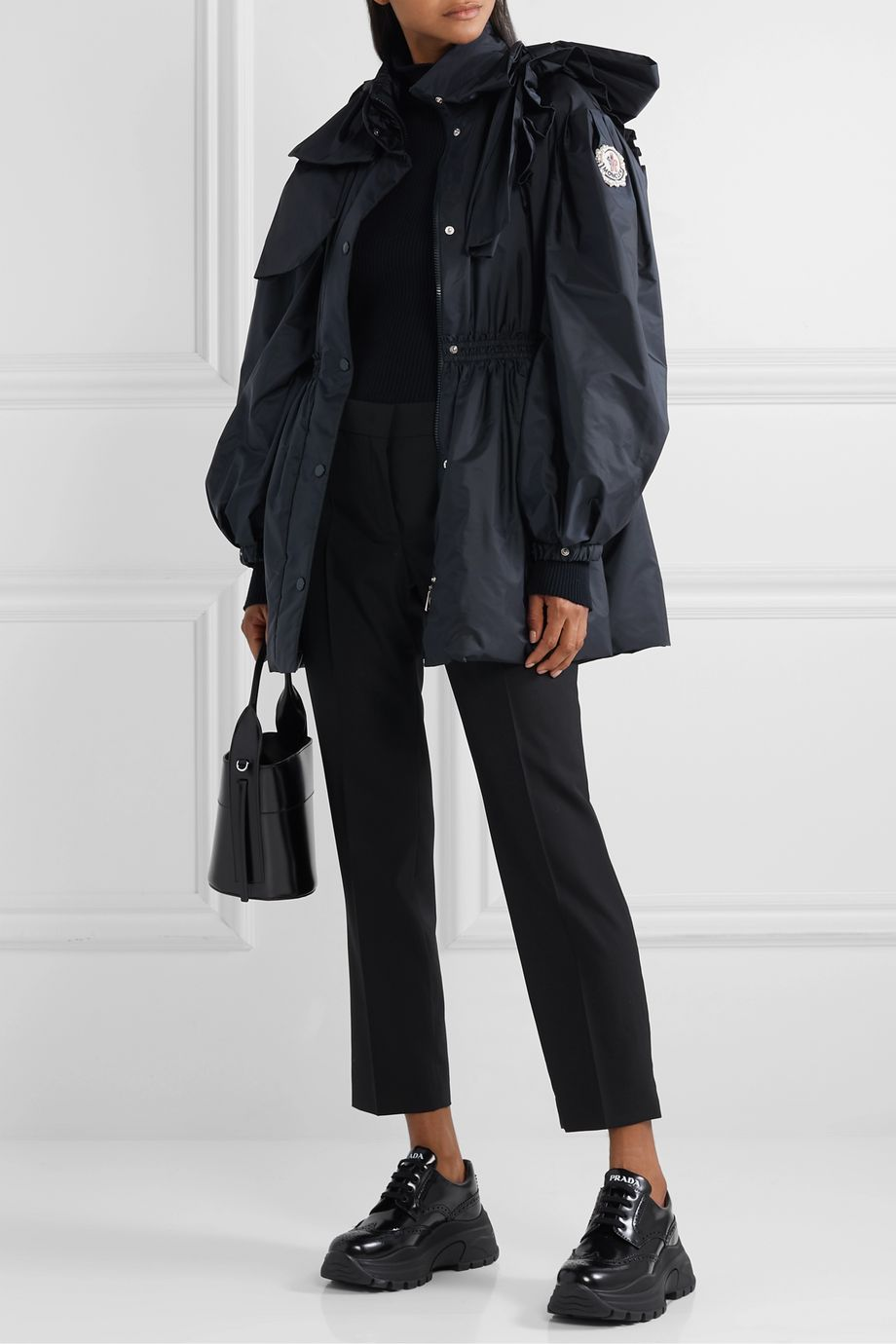 Moncler Genius + 4 Simone Rocha Susan bow-embellished shell down jacket