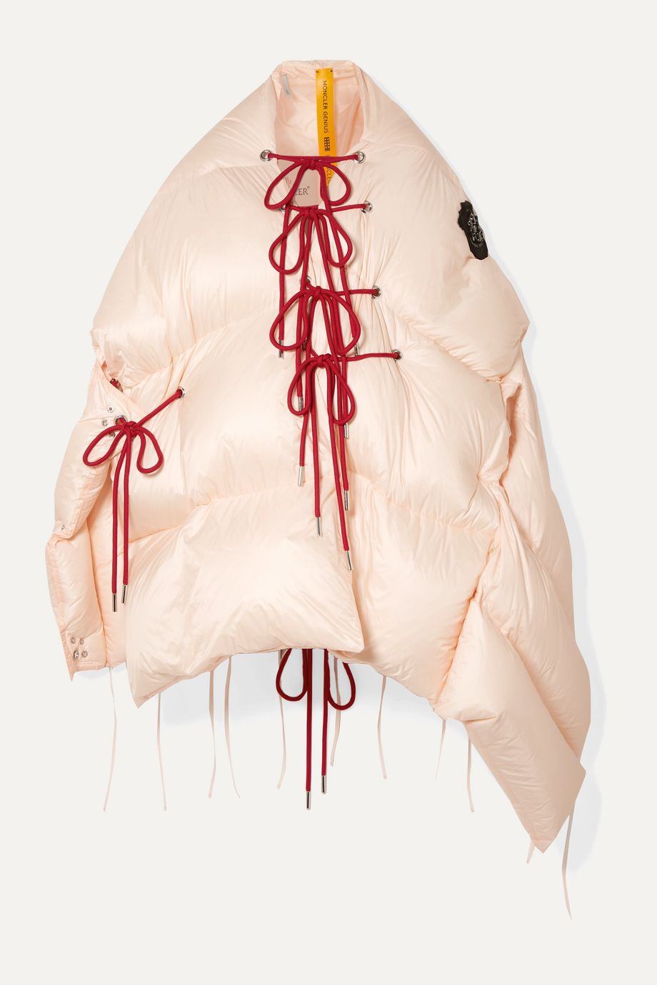 Moncler Genius + 4 Simone Rocha Shari lace-up quilted shell jacket