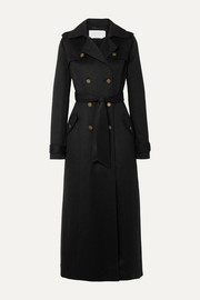 Casatt double-breasted cashmere trench coat