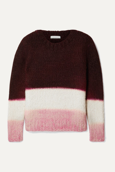 Gabriela Hearst Knits + NET SUSTAIN Lawrence color-block cashmere sweater