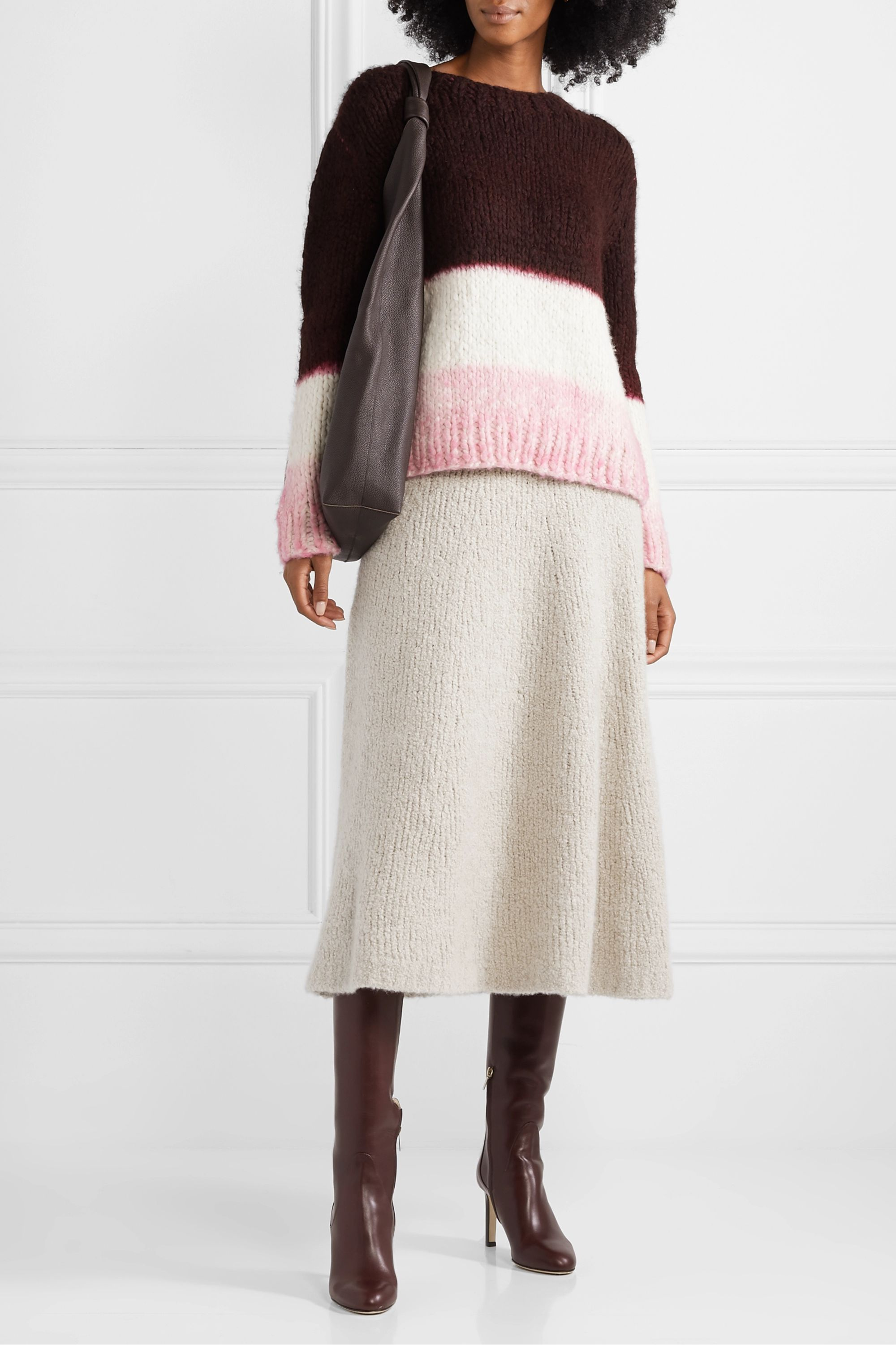 Gabriela Hearst + NET SUSTAIN Lawrence color-block cashmere sweater