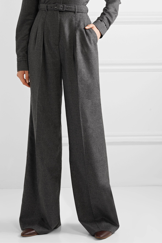 Gabriela Hearst Pantalon large en cachemire peigné à ceinture Vargas