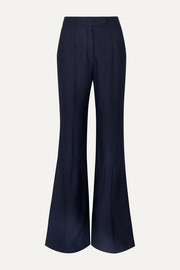 Leda ribbed twill straight-leg pants