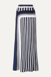 Gabriela Hearst Vasily striped wool midi skirt