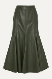 Amy leather midi skirt