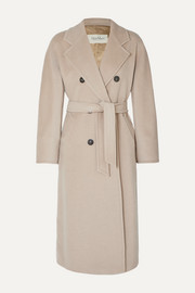 Madame belted double-breasted wool and cashmere-blend coat