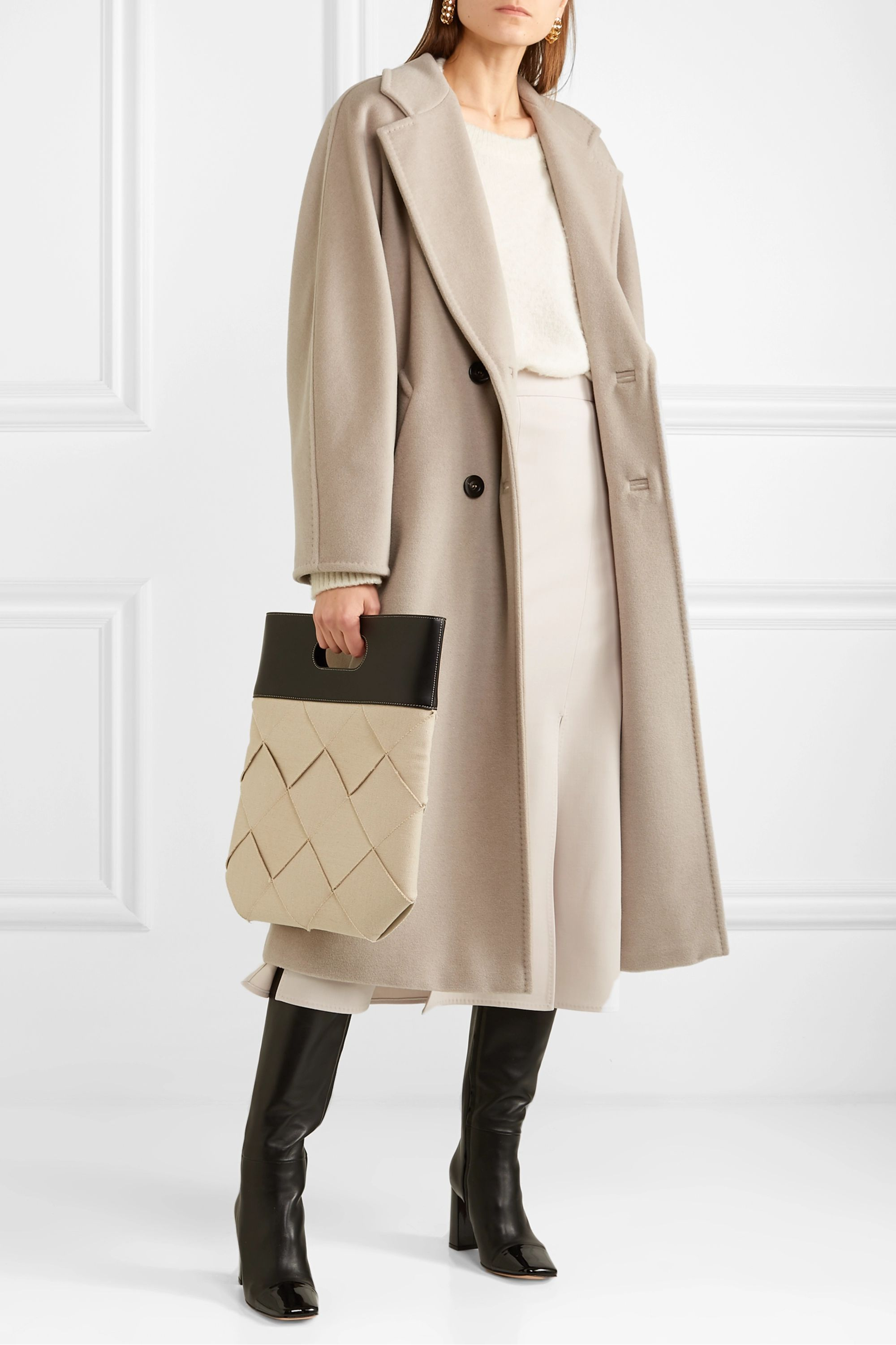 Max Mara Madame belted double-breasted wool and cashmere-blend coat