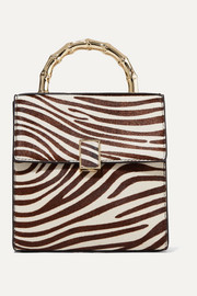 Tani mini zebra-print calf hair tote