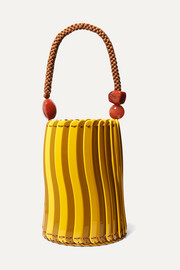 Ulla Johnson Asli beaded acrylic tote