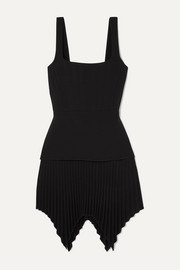 Dion Lee Pleated bonded crepe mini dress