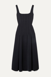 Dion Lee Two-tone cutout crepe midi dress