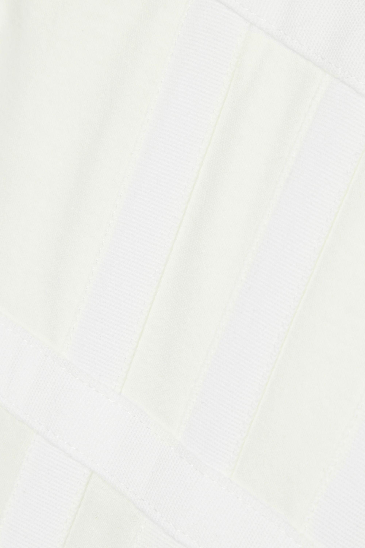 Dion Lee Verkürztes Bustier aus Baumwoll-Jersey mit Canvas-Besatz