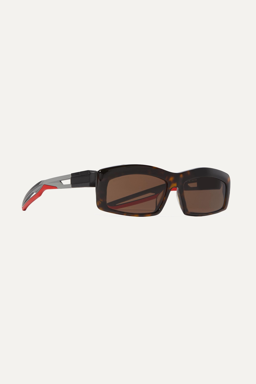 Balenciaga Hybrid square-frame tortoiseshell acetate sunglasses
