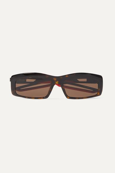 BALENCIAGA | Balenciaga - Hybrid Square-Frame Tortoiseshell Acetate Sunglasses - One Size | Goxip