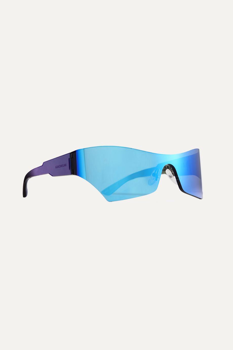 Balenciaga Cat-eye acetate mirrored sunglasses