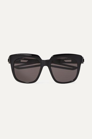 BALENCIAGA | Balenciaga - Oversized Square-Frame Acetate Sunglasses - Black | Goxip