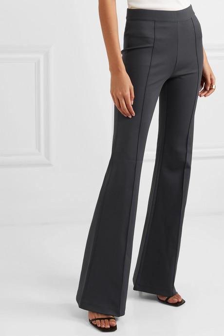 Manhattan stretch-cady flared pants