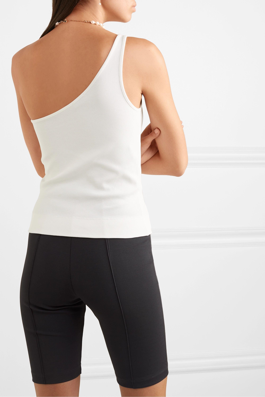 GAUGE81 One-shoulder ribbed stretch-cotton top