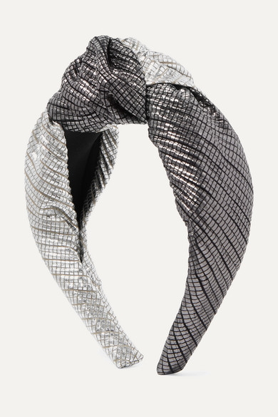 Maryn Knotted Two Tone Lamé Headband by Eugenia Kim