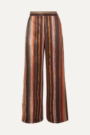 BITE Studios Striped organic silk wide-leg pants