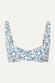 Peony + NET SUSTAIN floral-print underwired bikini top