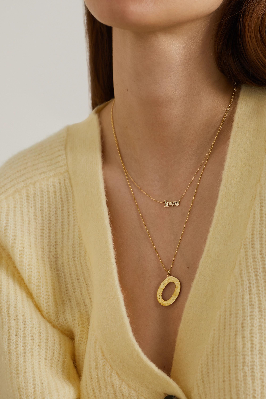 Jennifer Meyer Letter 18-karat gold necklace