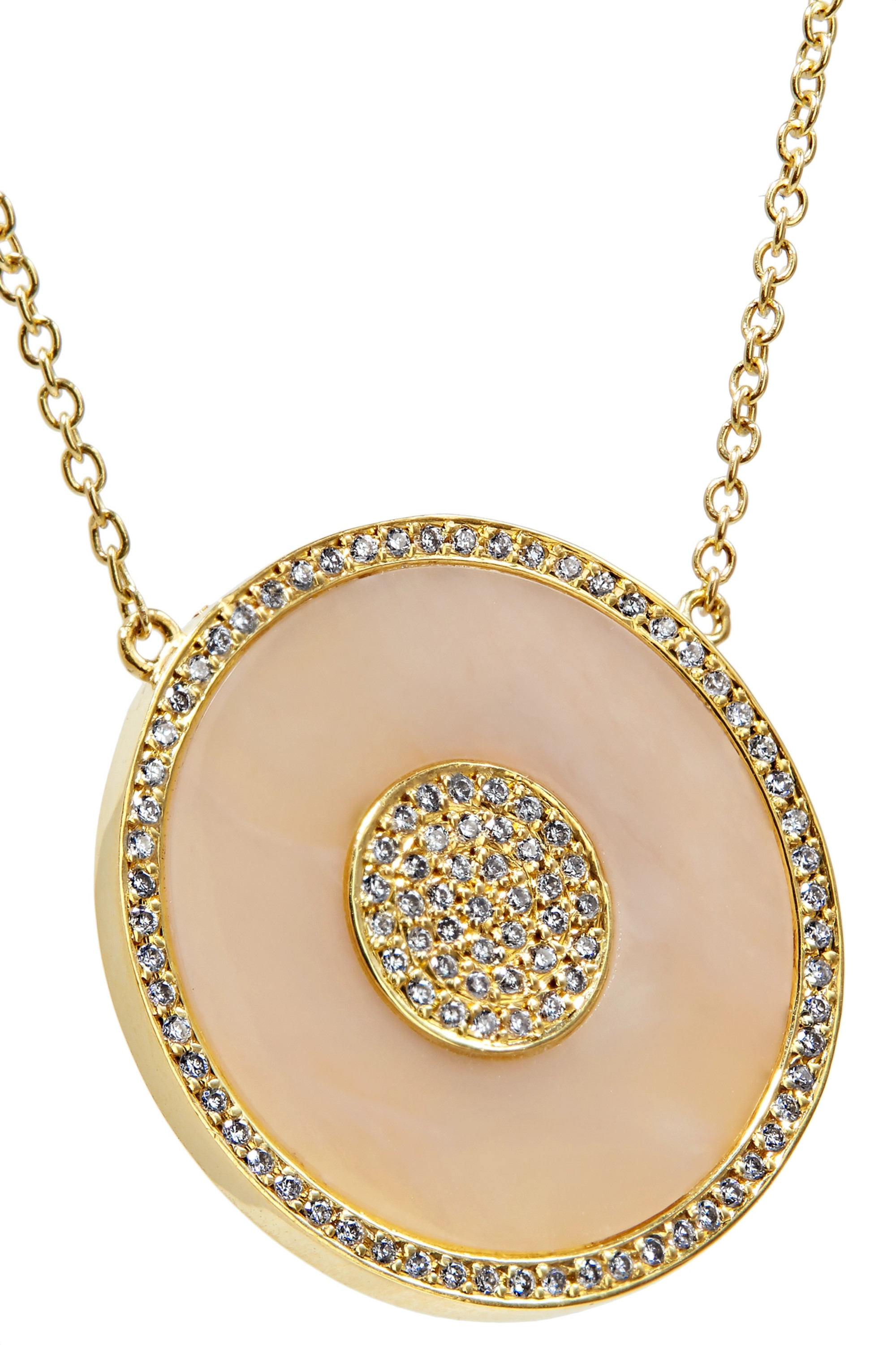 Jennifer Meyer Evil Eye 18-karat gold, opal and diamond necklace
