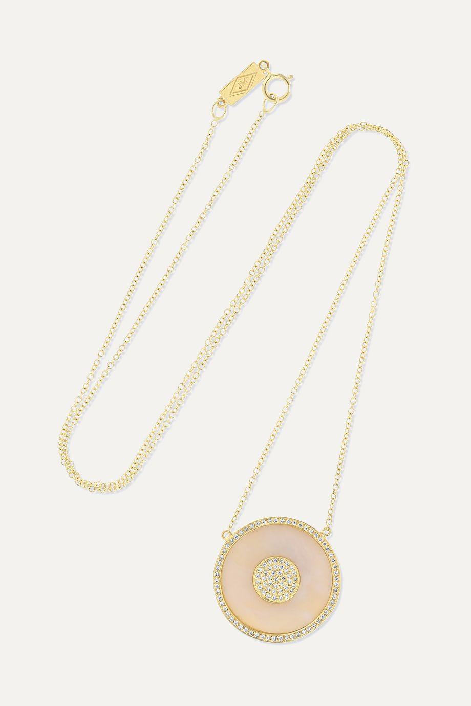 Jennifer Meyer Evil Eye 18-karat gold, opal and diamond necklace