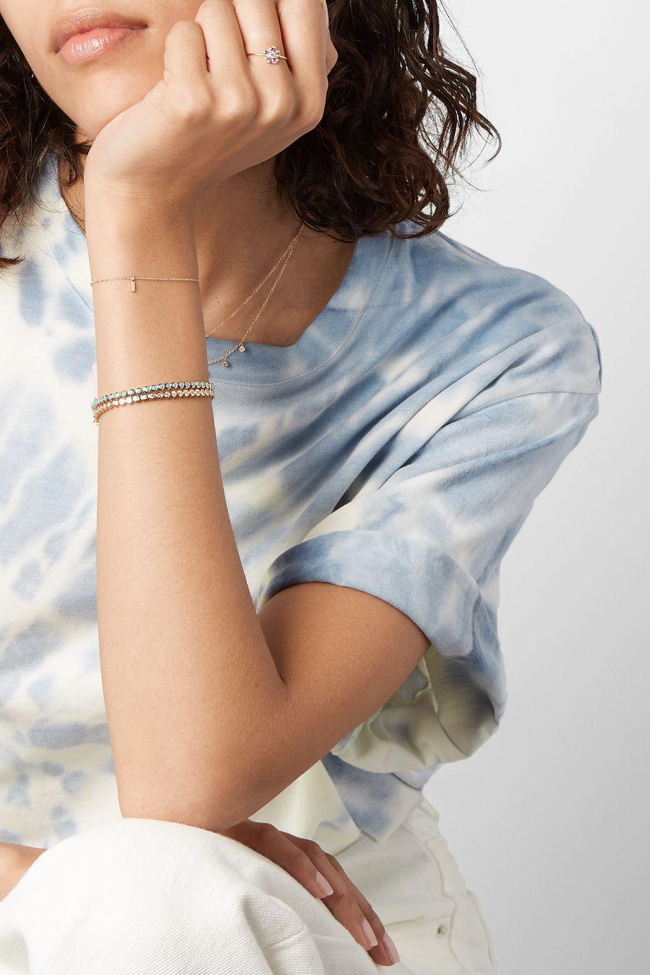 Jennifer Meyer Flower 18-karat gold, sapphire and diamond ring