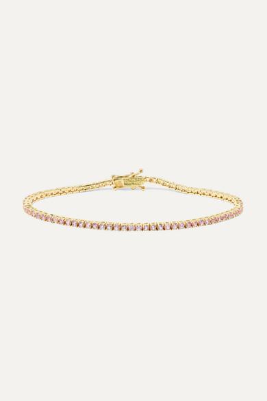 JENNIFER MEYER | Jennifer Meyer - 18-Karat Gold Sapphire Bracelet - One Size | Goxip
