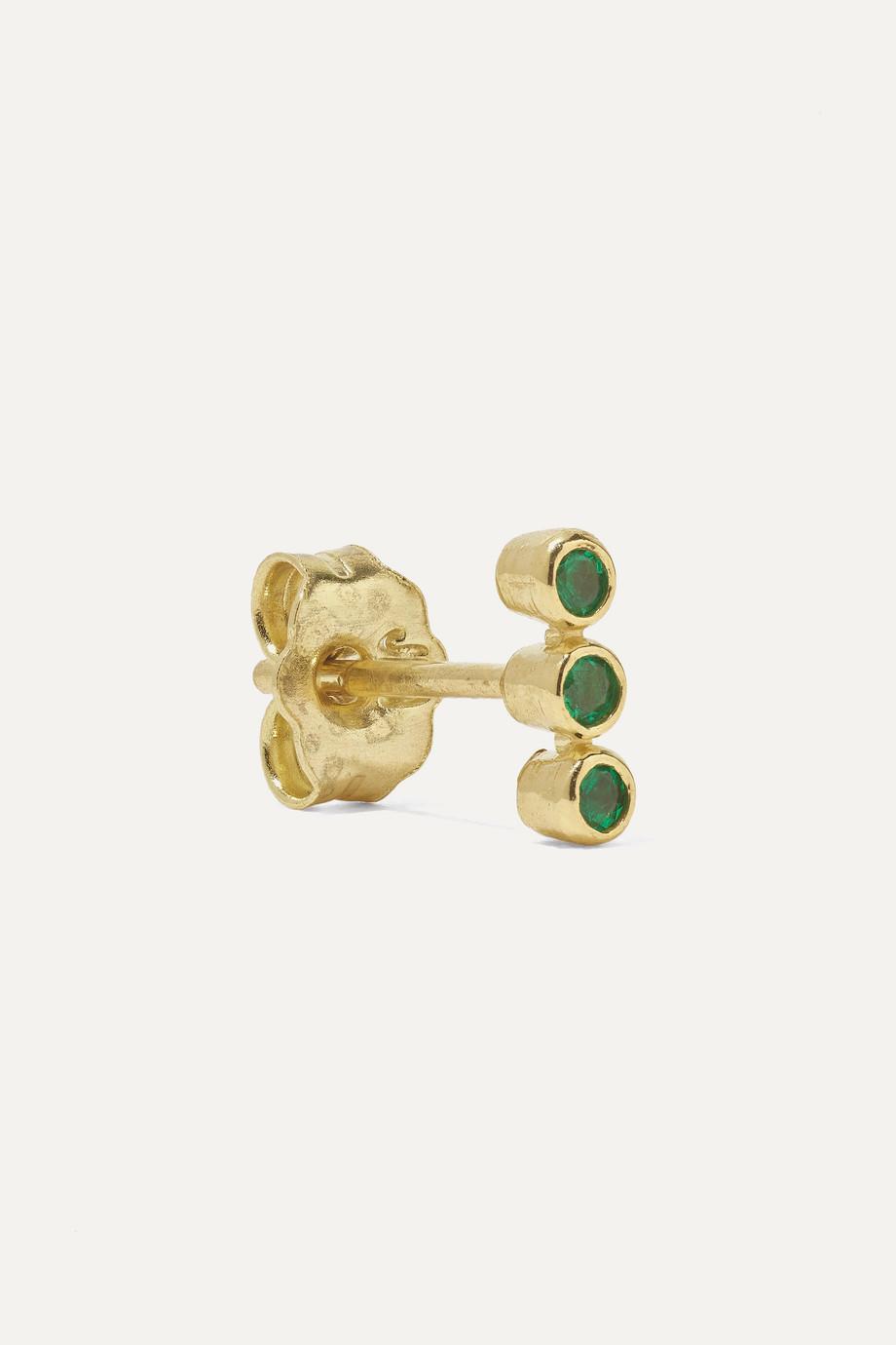 Jennifer Meyer 18-karat gold emerald earrings