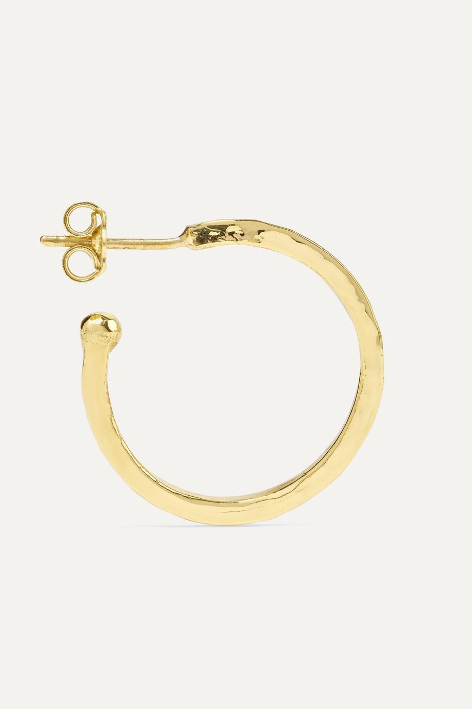 Jennifer Meyer Hammered 18-karat gold hoop earrings