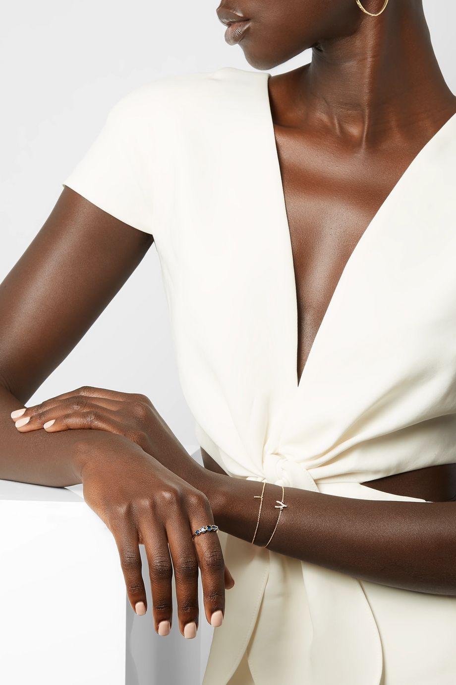Jennifer Meyer 18-karat gold sapphire ring