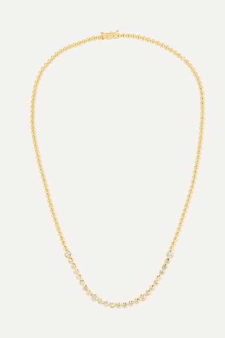 Gold 18-karat gold diamond necklace | Jennifer Meyer BX8vNr