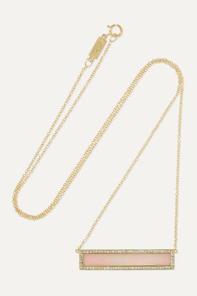 18-karat gold, opal and diamond necklace