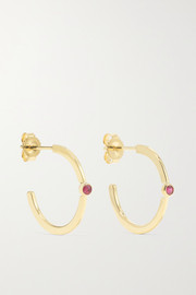 Jennifer Meyer 18-karat gold ruby hoop earrings