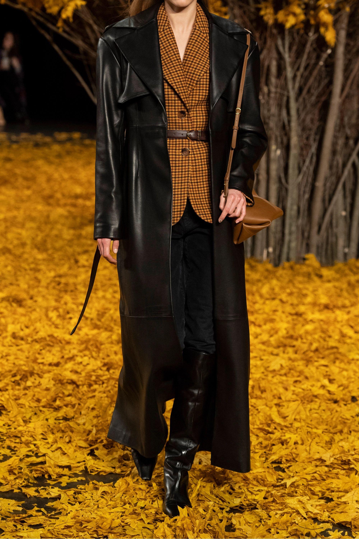 Khaite Blythe leather trench coat