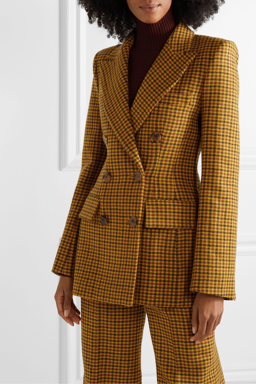 Khaite Darla checked wool blazer