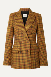 Darla checked wool blazer