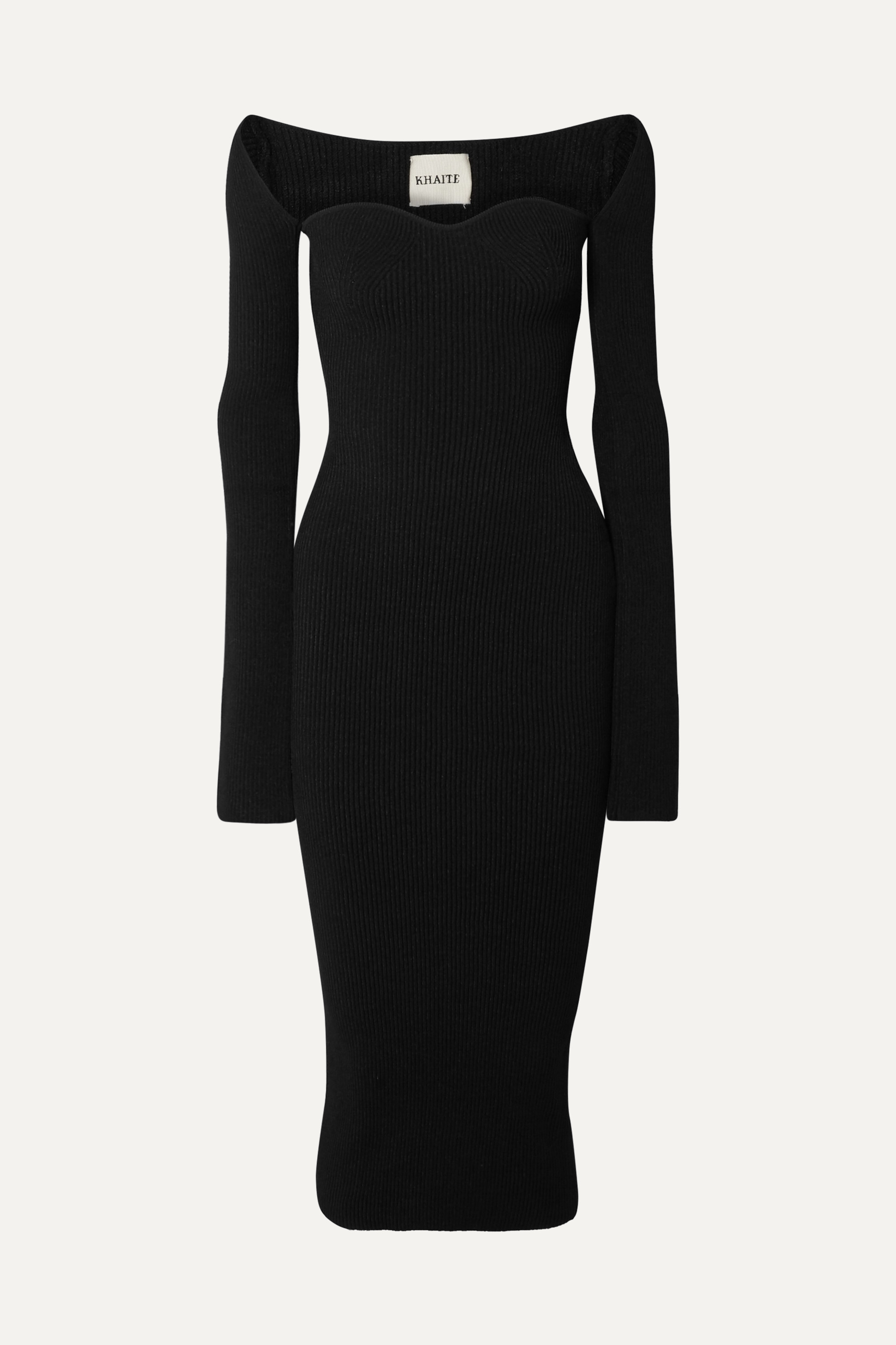 Khaite Beth ribbed-knit midi dress