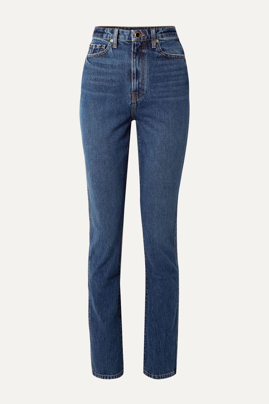 Khaite Daria high-rise slim-leg jeans