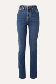 Daria high-rise slim-leg jeans