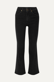 Vivian cropped high-rise bootcut jeans