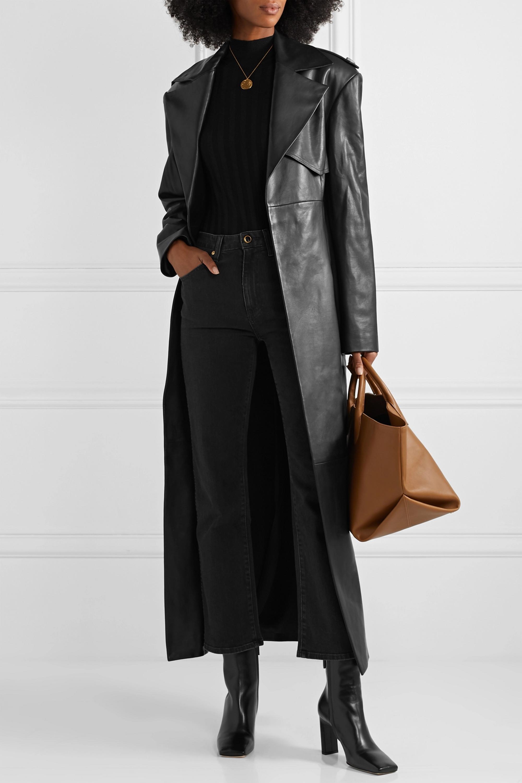 Khaite Vivian cropped high-rise bootcut jeans