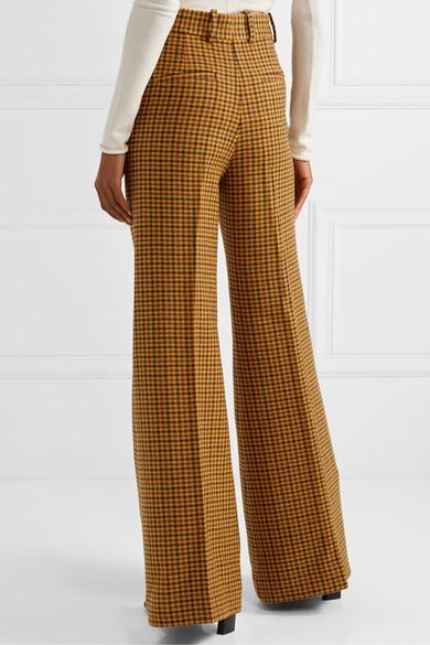 Khaite Pants Bernadette checked wool wide-leg pants